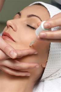 Tea Tree Oil Application on Acne Face